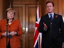 Premierminister David Cameron und Kanzlerin Angela Merkel