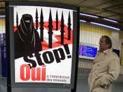 Schweiz Minarett-Verbot Plakat, dpa