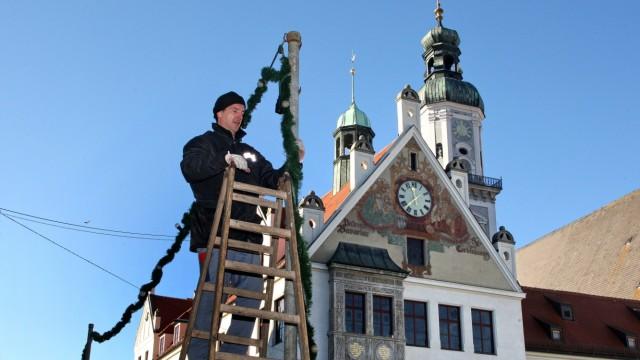 Freising Weihnachtsbeleuchtung Feststimmung in Freising