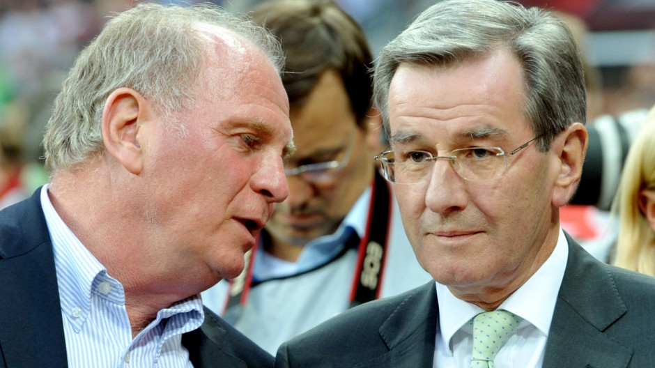Bayern-Chef Hoeneß und Karl Hopfner