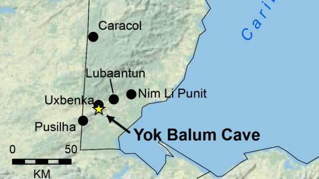 Die wichtigsten Maya-Städte und die York-Balum-Höhle in Belize, Zentralamerika.