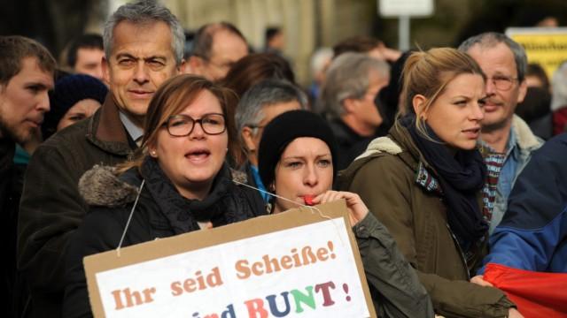 Demonstration Demonstration für islamisches Zentrum