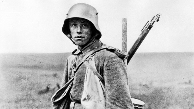 Deutscher Soldat eines Sturmtrupps 1918