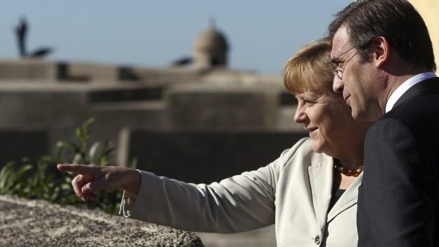 Angela Merkel visit to Portugal