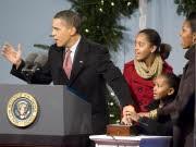 Obama und Familie; dpa
