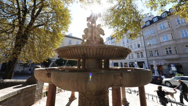 St.-Anna-Brunnen im Münchner Lehel, 2012