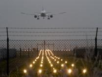 Landeanflug im Nebel