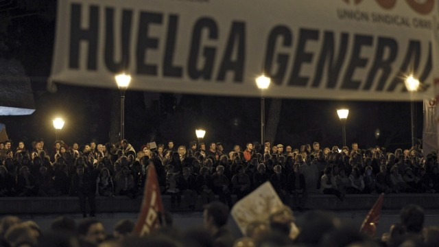 General strikes in Spain, Portugal over austerity measures