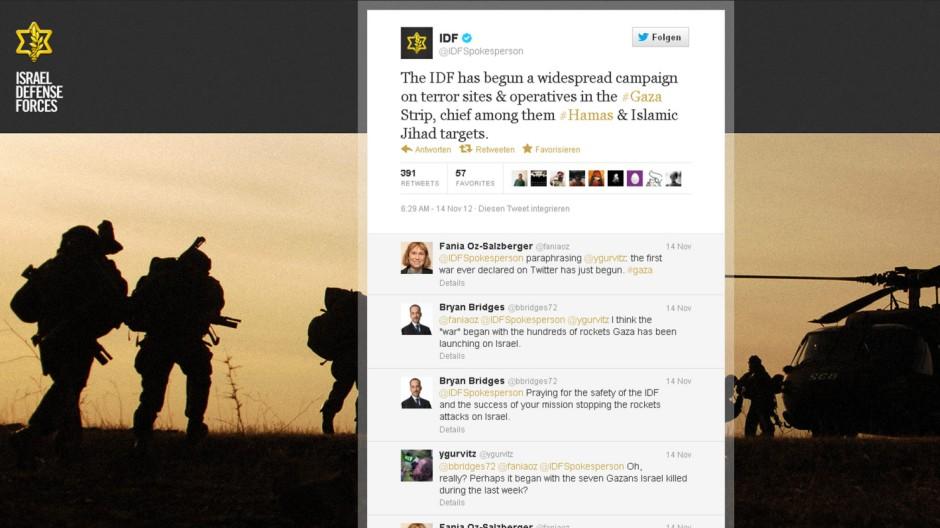 IDF-Tweet zum Angriff auf Gaza
