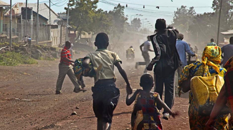 Rebellenarmee M23 Gefechte im Kongo