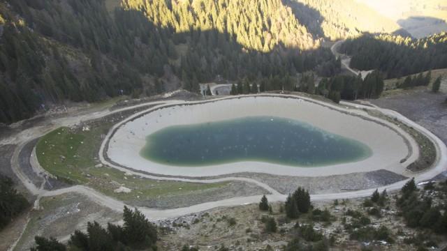 Brauneck Speichersee Beschneiung Schneekanonen