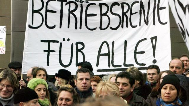 Protest bei der Commerzbank