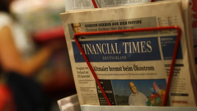 File photo of edition of the Financial Times Deutschland (Germany) at a shop in Frankfurt