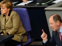 Merkel Steinbrück Bundestag Haushaltsdebatte