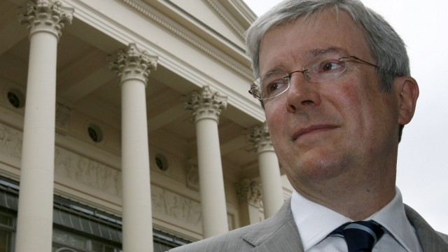 A file photograph shows the Chief Executive of the Royal Opera House, Tony Hall,  posing for a photograph in London