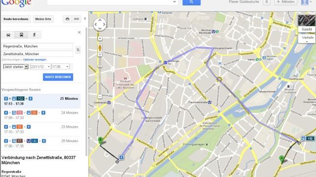 Google Tram Suche
