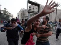 Anti-Mursi-Demonstranten auf dem Tahrir-Platz in Kairo