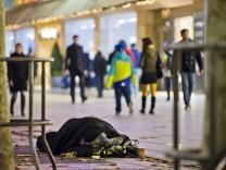 Obdachlose in Frankfurt