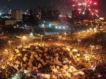 Opposition rally over Morsi decrees in Tahrir Square