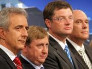 Tillich, Hahn, Zastrow, Jurk, dpa