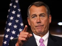 USA House Speaker Boehner Holds News Conference In Response To Obama