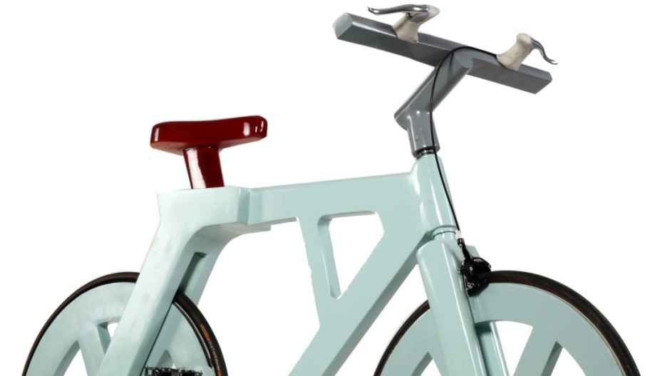 Fahrrad, Drahtesel, Pappe, Tüftler, Bastler, Fahrrad aus Pappe