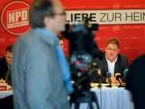 NPD informiert ueber Hintergrund und Strategie zum Antrag auf Feststellung der Verfassungskonformitaet