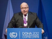 UN-Klimakonferenz in Doha: Peter Altmaier am Pult