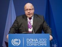 UN-Klimakonferenz in Doha: Peter Altmaier am Pult
