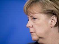Bundeskanzlerin Angela Merkel (CDU) NPD-Verbot