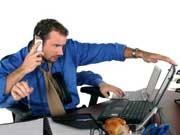 Multitasking Führungsspitzen Stress Büro, iStock