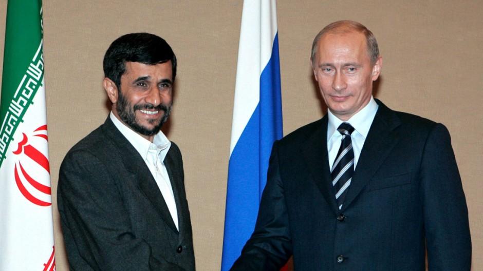 Gipfel der SCO-Staaten - Putin und Ahmadinedschad