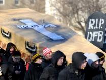 Fandemonstration von Dynamo Dresden