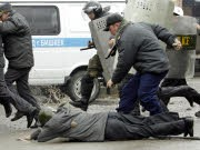 Unruhen in Bischkek, dpa