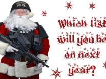 Polizeichef von Abbotsford auf Weihnachtskarte