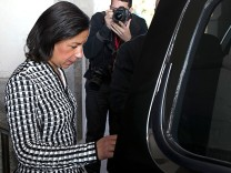 Susan Rice Meets Senator Susan Collins On Capitol Hill