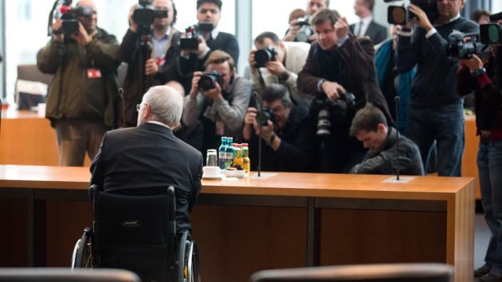 Schäuble im NSU-Untersuchungsausschuss
