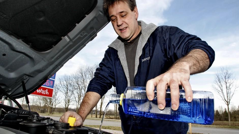 Wischwaschwasserbehälter, Wischwaschwasser, Frostschutz, Auto, Winter