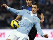 SS Lazio's Miroslav Klose controls the ball during their Italian Serie A soccer match against Inter Milan in Rome