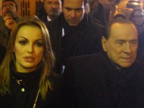 Silvio Berlusconi and Francesca Pascale engage