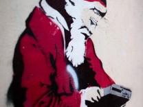Laptop-Weihnachtsmann in Dresden