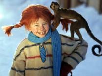 Pippi Langstrumpf, dargestellt von Inger Nilsson.