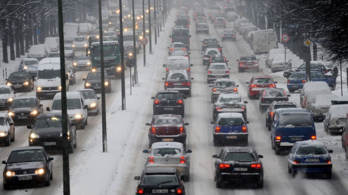 Verkehrsstau in München