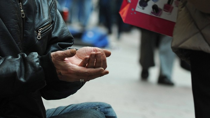Armut auf der Straße
