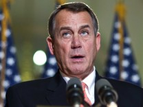 U.S. House Speaker Boehner speaks during a media briefing about Republican plans on the pending 'fiscal cliff' in Washington