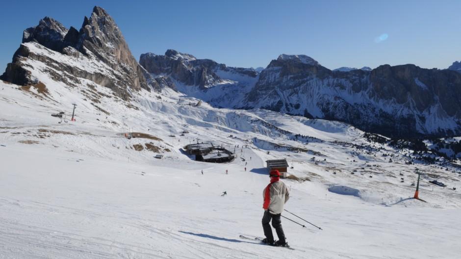 Dolomiten Italien Skisafari Skifahren Dolomiti Superski Dolomiten Italien Grödnertal Seceda