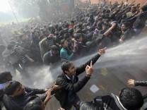Dehli Vergewaltigung Demonstration Ausschreitung