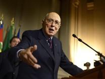 Italienisches Parlament von Präsident Napolitano aufgelöst