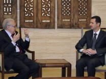Brahimi und Assad in Damaskus