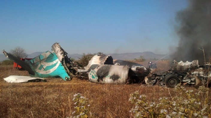 Myanmar domestic airliner crash-lands, killing two